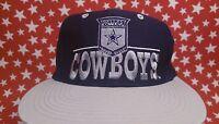 Vtg Dallas Cowboys Snapback hat THE GAME script cap NFL Great 90s Aikman
