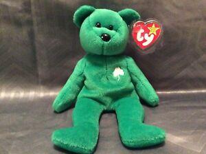 Ty Beanie Babies Erin the Irish 8.5 Teddy Bear 1997