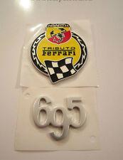 fregio stemma logo 500 ABARTH 695 TRIBUTO FERRARI ORIGINALE LATERALE emblem