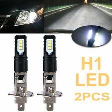 2x H1 6000K Super Bright White 6000LM DRL LED Headlight Bulb Kit High Beam NEW