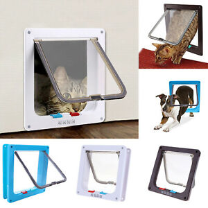 AU Safe 4-way Lockable Pet Cat / Small Dog Door Large Locking Flap Frame S -L