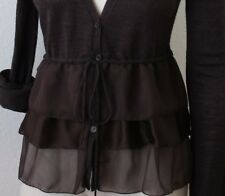 NWT Mango Suit Cardigan Sweater Brown Size S M 0a361d9dd