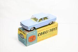Corgi 229 Chevrolet Corvair Light Blue In Its Original Box - Excellent Original