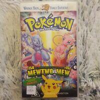 📼 Pokemon: The First Movie    Warner Bros.    Pikachu's Vacation    VHS Movie