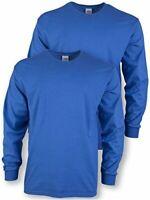 Gildan Men's Ultra Cotton Adult Long Sleeve T-Shirt,, Royal, Size XX-Large 8oXj