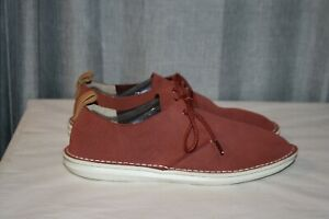 Clarks England Desert London? Red Suede Men's Size 8.5 WORN ONCE
