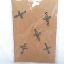 Cross Metal Embellishments Arts Crafts Charms  Pack of 5 pcs by MSPCI