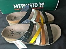 MEPHISTO 'Huleda' Strappy Slide Black Combo Comfort sandals Size 35 New.