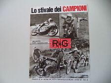 advertising Pubblicità 1975 RG e OSSA MAR 350/PILERI/GUALTIERO BRISSONI/TOSCO