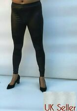 Black wet PVC rubber latex faux leather look Legging size 8-14
