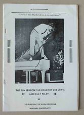ANCIEN CATALOGUE - THE SUN SESSION FILE ON JERRY LEE LEWIS AND BILLY RILEY *