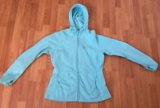 The North Face Womens Lightweight Fleece Blue Athletic Hooded Sweatshirt Large