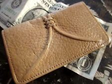 Vtg Brown Leather 1950s Key Tainer Case Folder Wallet Keychain Justin Cowhide