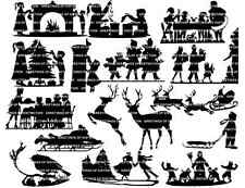 Die Cut Silhouettes XMAS NON RELIGIOUS SELECTION x 15 Cardmaking, Scrapbooking
