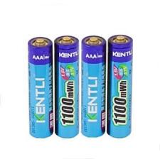 4pcs New Kentli  1.5V 1100mWh  Rechargeable AAA LiPo Rechargeable Batteries