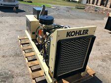 30 KW KOHLER LP OR NATURAL GAS GENERATOR LOAD BANK TESTED LOW HOURS