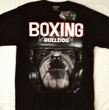 "Boxing Bulldog"" STUDDED "" Tee shirt  2 sided print  LG 42""-44"" RCST 002"