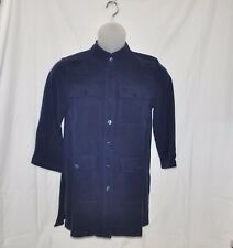 Linea by Louis Dell'Olio Stand Collar Tunic With Removable Belt Size XL Navy