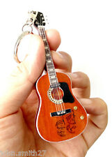 "John Lennon The Beatles Give Peace 4"" Miniature Guitar Fridge Magnet & Keychain"