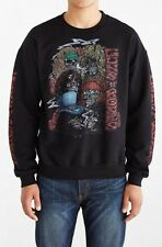 NEW URBAN OUTFITTERS BLACK GUNS N ROSES CREW NECK SWEATSHIRT MEN'S SIZE SMALL