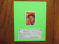 MIKE  BLYZKA (Died  in  2004) Orioles  -Signed  PERSONAL  CHECK  w/8X10  Display