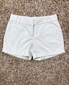 J. Crew Women's Weathered Broken-In Chino Classic Twill Shorts Khaki Sz 6 US