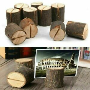10x Wooden Table Card Holder Stand Number Place Name Menu Wedding Party Decor