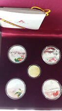 China 2014 Gold and Silver Coins Set - World Heritage - West Lake