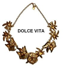 FRENCH SIGNED DOLCE VITA GOLD COUTURE NECKLACE