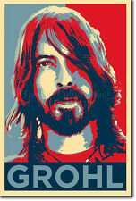 Dave Grohl 2 Poster Impression Photo CADEAU (OBAMA HOPE INSPIRÉ)