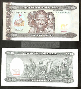 Eritrea 20 Nakfa 1997 Unc pn 4