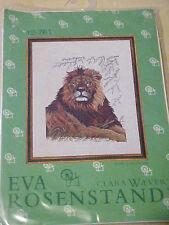 Eva Rosenstand Clara Waever Cross Stitch Kit LION 10/26 Linen Big Cat Animal