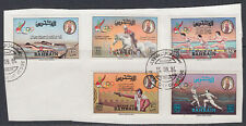 Bahreïn 1984 mi.346/50 on piece Jeux Olympiques Olympic Games sports [st2656]