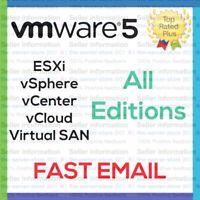 VMware 5 ESXi License Key vSphere vCenter Enterprise Plus Unlimited EMAILED ⚡️