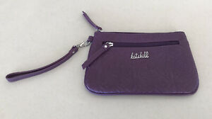 Kate Hill Small Purple Zip Up clutch Bag