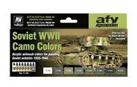 AV Vallejo Soviet WWII Camo Colours 1935-1945 Acrylic Paint Set For Models
