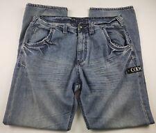 Coogi Mens Jeans Sz 36 X 34 Baggy Light Wash Denim Silver Australia Plate **