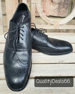 Rockport Adiprene Almartin K69912 Men's Oxford Wingtip Black Leather Shoes 11.5M