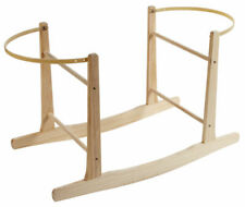 Deluxe Natural Moses Basket Rocking Stand