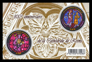 """France - """"REIMS CATHEDRAL ~ ART ~ STAINED GLASS"""" MNH MS 2011 !"""