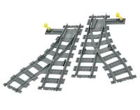 LEGO Train Track Points Left & Right Switching Turning Junction Turnout Switch