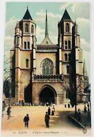 L'Eglise Saint Benigne Cathedral de Dijon Burgundy France Postcard