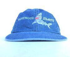 Rhonewood Sharks (Swim Team) Denim Baseball Cap Hat Adj Adult Size Cotton