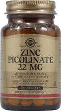 Zinc Picolinate by Solgar, 100 tablet 22 mg