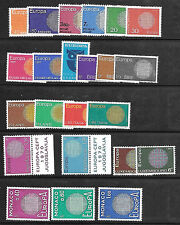 Europe 1970 MNH** CEPT issues 16 countries 34 stamps