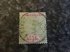 LEEWARD ISLANDS POSTAGE REVENUE STAMP SG7 1/- 1890 VFU
