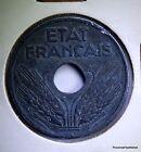 MONNAIE FRANCE 10 centimes ETAT FRANÇAIS 1941 grand module ZINC AC402