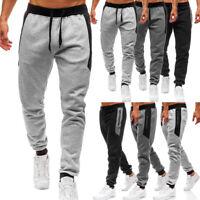 Men Slim Fit Tracksuit Sport Gym Skinny Jogging Joggers Sweat Pants Trousers Hot