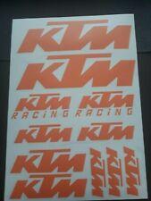 KTM Sticker Aufkleber Set Motorrad Tuning CROSS QUAD Orange M