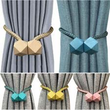 Strong Magnetic Curtain Tiebacks Clips Holdbacks Buckles Curtain Tie Backs Rope